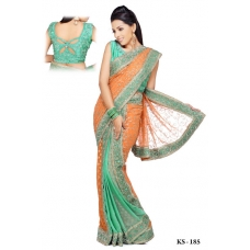Ready Stitched Blouse Saree Green: Ref R01