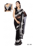 Ready Stitched Blouse Saree Black: Ref R03