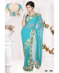 Ready Stitched Blouse Saree Blue: Ref R05