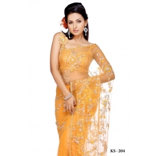 Ready Stitched Blouse Saree Yellow: Ref R07
