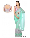 Ready Stitched Blouse Saree Lilac: Ref R08