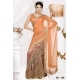 Ready Stitched Blouse Saree Peach Orange: Ref R14