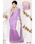 Ready Stitched Blouse Saree Lilac Pink: Ref R17