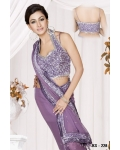 Ready Stitched Blouse Saree Sparkling Purple: Ref R18