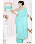 Ready Stitched Blouse Saree Silver Blue: Ref R19