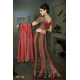Ready Stitched Blouse Saree Mehndi Red and Green: Ref R22
