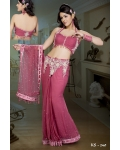 Ready Stitched Blouse Saree Exotic Pink: Ref R21