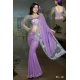 Ready Stitched Blouse Saree Sparkling Silver Grey Lilac: Ref R26