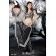 Ready Stitched Blouse Saree elegant Sparkling Silver black: Ref R27