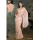 Ready Stitched Blouse Saree elegant  Warm Peach: Ref R29
