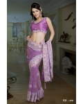 Ready Stitched Blouse Saree Purple Magenta: Ref R32