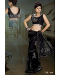 Ready Stitched Blouse Saree black: Ref R35