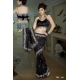 Ready Stitched Blouse Saree black Silver: Ref R36
