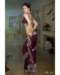 Ready Stitched Blouse Saree Maroon: Ref R37