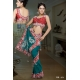 Ready Stitched Blouse Saree Red Emerald: Ref R38