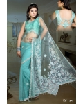 Ready Stitched Blouse Saree Green Mint: Ref R39