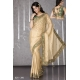 Ready Stitched Blouse Saree Traditional Elegant Beige Green: Ref R42