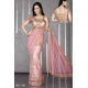 Ready Stitched Blouse Saree Baby Pink and Golden Embroidery: Ref R46