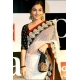 Vidya Balan white red black saree: Ref B627