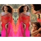 Aishwarya Rai Red Pink Embroidery saree: Ref B605