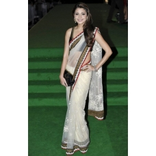 Anushka black white saree: Ref B606