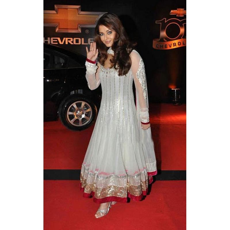 Aishwarya Rai Anarkali Aishwarya Rai Bachchan White