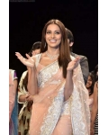 Bipasha Basu Baby Pink, White and Silver Saree: Ref B601