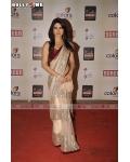 Priyanka Chopra maroon, white, gold, saree : Ref B614