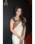 sonakshi sinha black, white, gold saree: Ref B612