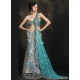 Blue and Black Indian Bridal Lengha: Ref 507