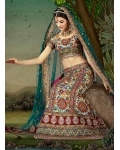 Green Indian Bridal Lengha: Ref 528