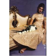 Elegant Gold Indian Bridal Lengha: Ref 502