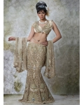 Gold Indian Bridal Lengha: Ref 508