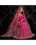 Pink Indian Bridal Lengha: Ref 531
