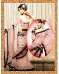 Pink & Black Indian Bridal Saree: Ref 706