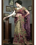 Green & Purple Indian Bridal Lengha: Ref 532