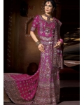 Purple Indian Bridal Lengha: Ref 533
