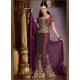 Purple & Gold Indian Bridal Lengha: Ref 534