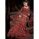 Maroon Indian Bridal Lengha: Ref 554