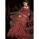Maroon Indian Bridal Lengha: Ref 554