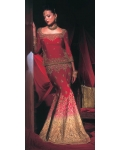Maroon & Gold Indian Bridal Lengha: Ref 538