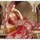 Red & White Indian Bridal Lengha: Ref 547