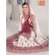 Purple & White Indian Bridal Lengha: Ref 543