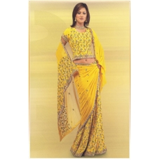 Yellow Indian Bridal Lengha: Ref 552