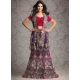 Rich Zardosi Work Net Lehenga Choli: Ref 576