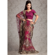 Embroidered Glam Pinkish Magenta Lehenga Choli: Ref 570