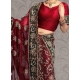 Posh Embroidered Net Lehenga Choli: Ref 572