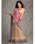 Zardosi Rich Appliqued Net Lehenga Choli: Ref 573