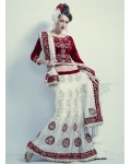 Spectacular Net Embroidered Lehenga Choli: Ref 571