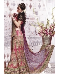 Red &amp; Green Indian Bridal Lengha: Ref 560